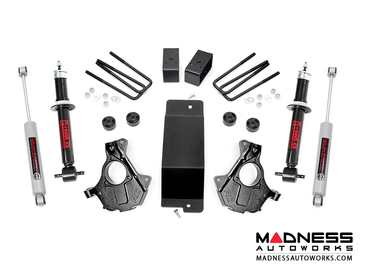 "Chevy Silverado 1500 4WD Suspension Lift Kit w/ Front Knuckles & Lifted Front Struts - 3.5"" Lift - Cast Steel Control Arms"